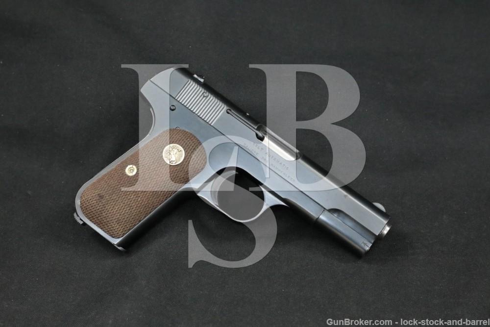 Colt Model 1908 Pocket Hammerless .380 ACP Semi-Automatic Pistol, 1920 C&R