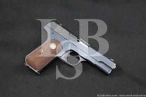 Colt Model 1908 Pocket Hammerless .380 ACP Semi-Automatic Pistol, 1933 C&R