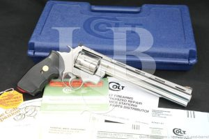 """Colt Model Anaconda .44 Magnum 8"""" Stainless Double Action Revolver MFD 1993"""