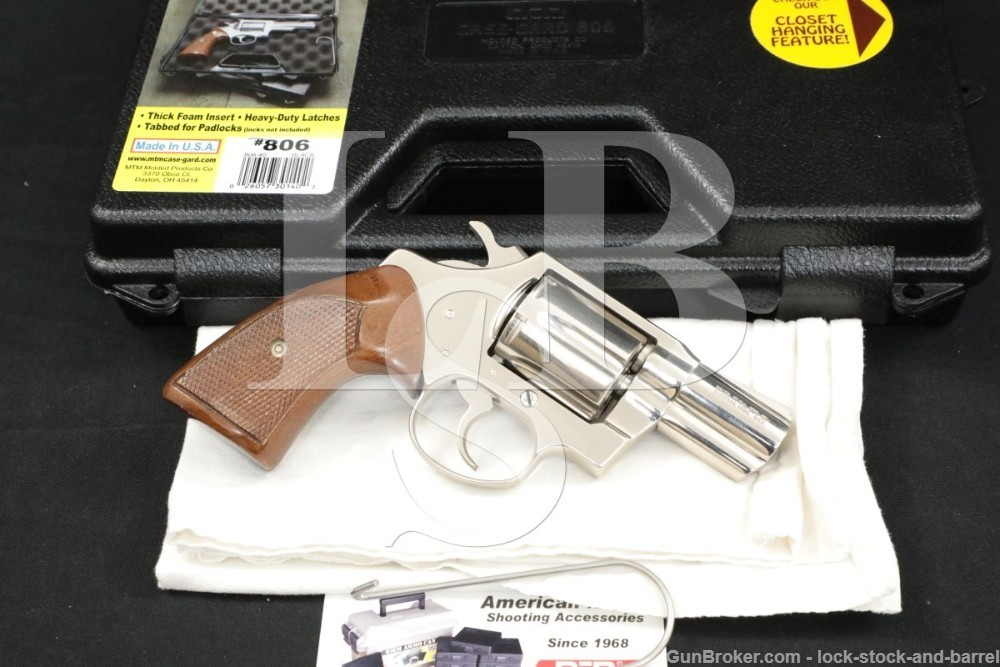 "Colt Model Detective Special 3rd Issue .38 Spl 2"" Nickel Revolver"