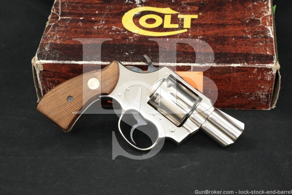 Colt Model Lawman Mk. III MKIII, .357 Magnum Nickel SA/DA Revolver MFD 1982