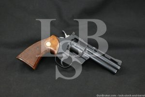 "Colt Model Python I3640 .357 Magnum 4"" Double Action Revolver MFD 1966 C&R"