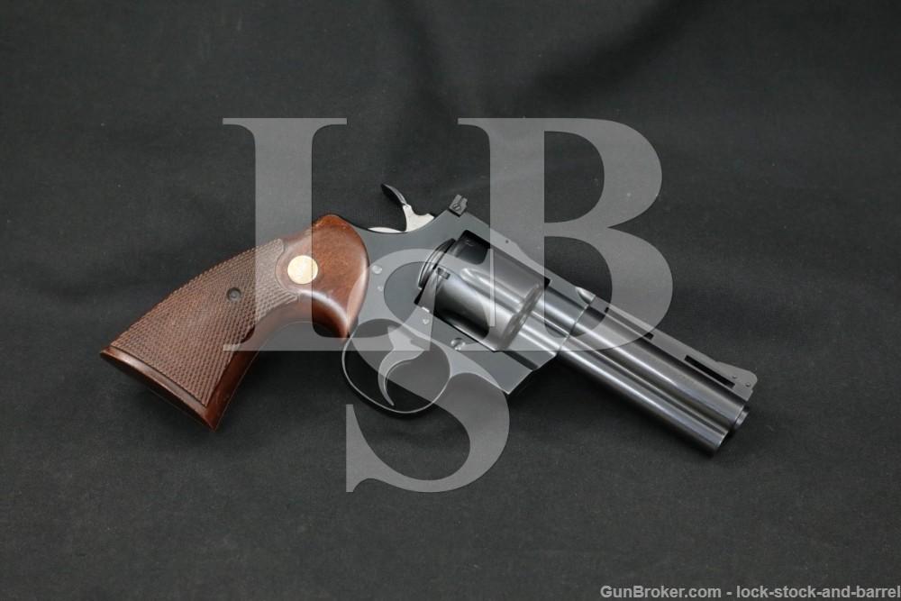"Colt Model Python I3640 .357 Magnum 4"" Double Action Revolver MFD 1964 C&R"