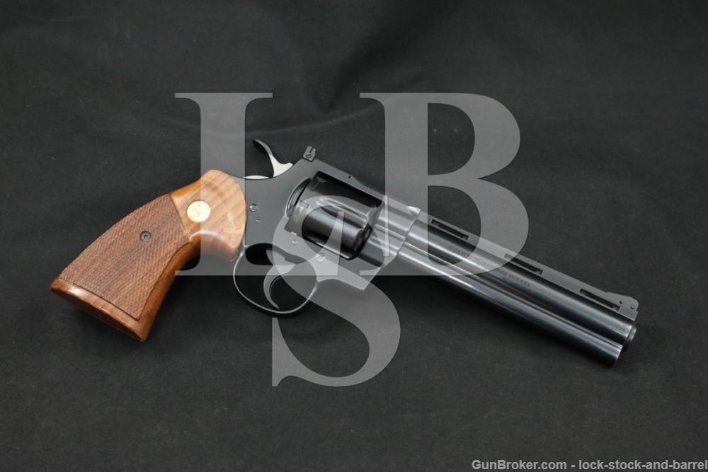 "Colt Model Python I3660 .357 Magnum 6"" Double Action Revolver MFD 1982"