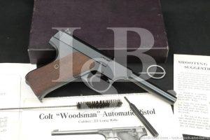 """Colt Model Woodsman Sport 1st Series .22 LR 4.5"""" Semi-Auto Pistol 1940 C&R"""