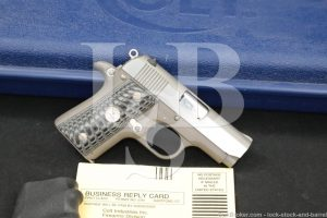 Colt Mustang Pocketlite Stainless .380 ACP Semi-Automatic Pistol, MFD 1994