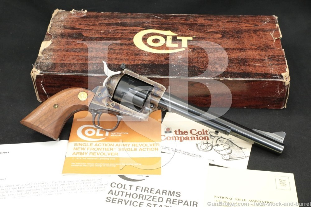 """Colt New Frontier SAA Single Action Army P4970 7 1/2"""" .44-40 Revolver, 1981"""