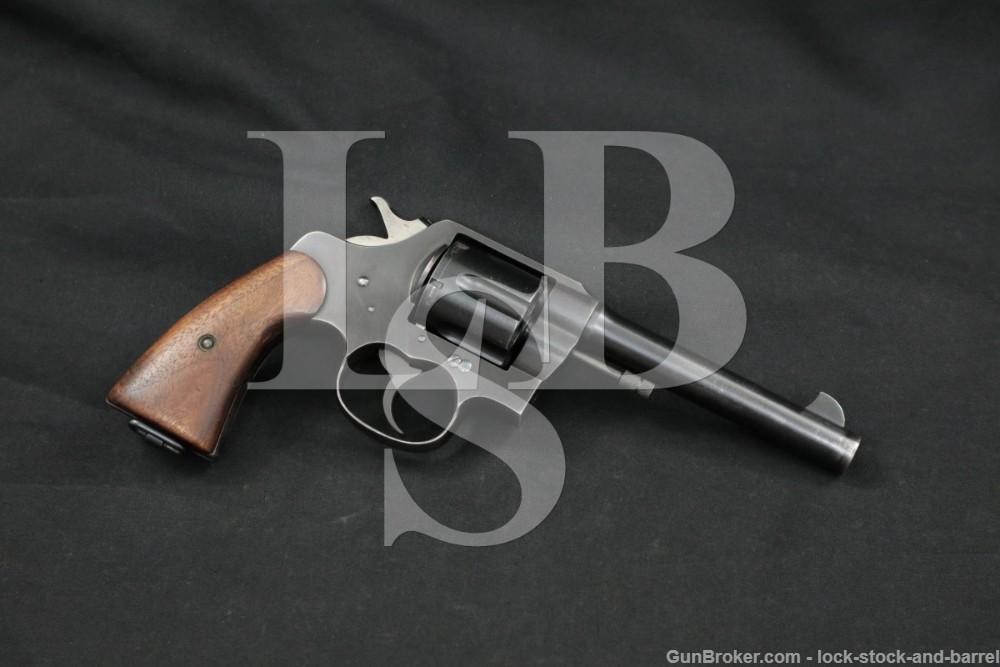 "Colt New Service U.S. Army Model 1917 .45 ACP 5 1/2"" Revolver, MFD 1919 C&R"