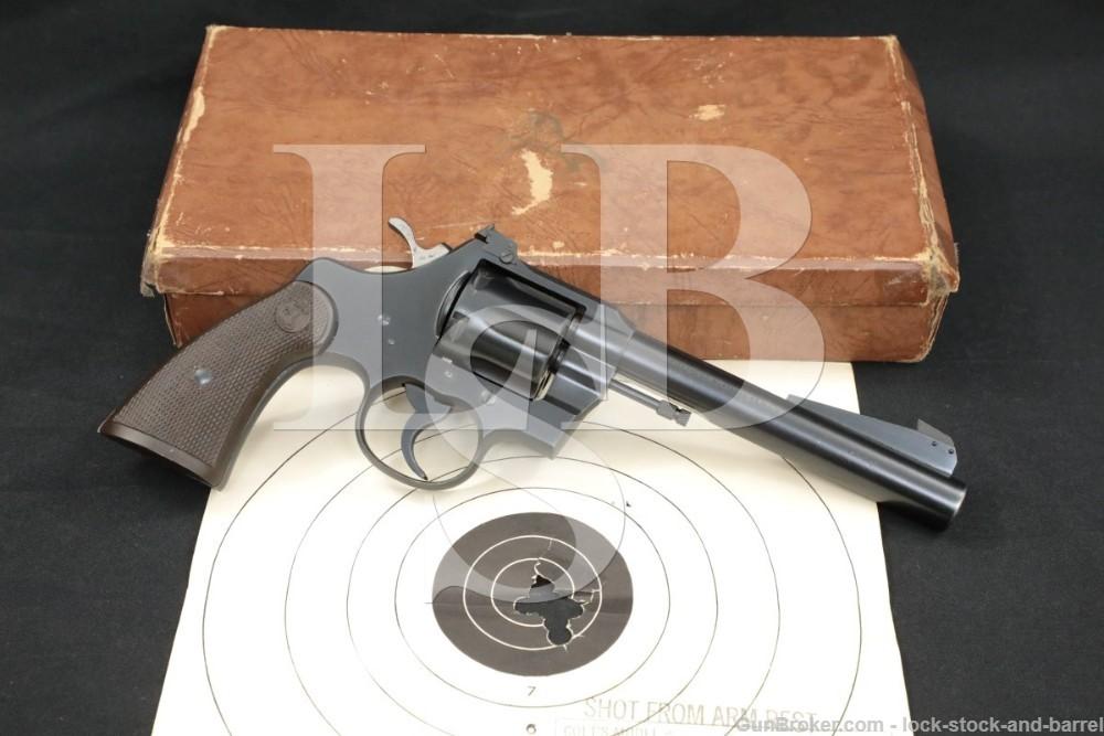 "Colt Officers Model Special 6"" Heavy .38 Spl Target Revolver, MFD 1951 C&R"
