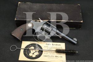 Colt Police Positive 1st Series .38 New Police/S&W Revolver, MFD 1933 C&R