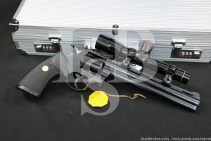 "Colt Python Hunter 8"" Blue .357 Magnum Revolver & Leupold Scope, MFD 1980"