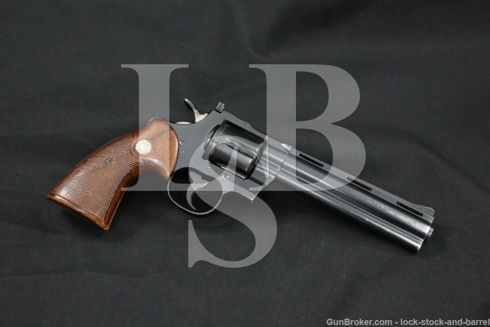 "Colt Python Model Blue 6"" .357 Magnum Double Action Revolver, MFD 1968 C&R"