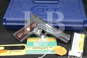 Colt Series 70 Gold Cup National Match O5872A1 9mm 1911 Semi-Auto, ATF C&R