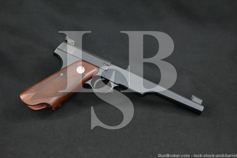 "Colt Woodsman Match Target 1st Series Bullseye 22 LR 6 5/8"" Pistol 1939 C&R"