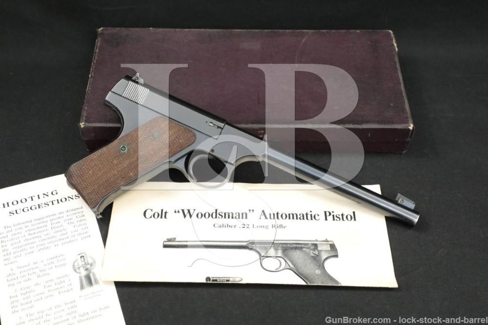 Colt Woodsman Target Model 1st Series .22 LR Semi-Auto Pistol, MFD 1937 C&R