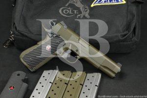 Custom Colt Delta Elite Government 1911 Green 10mm Semi-Auto Pistol, 1990
