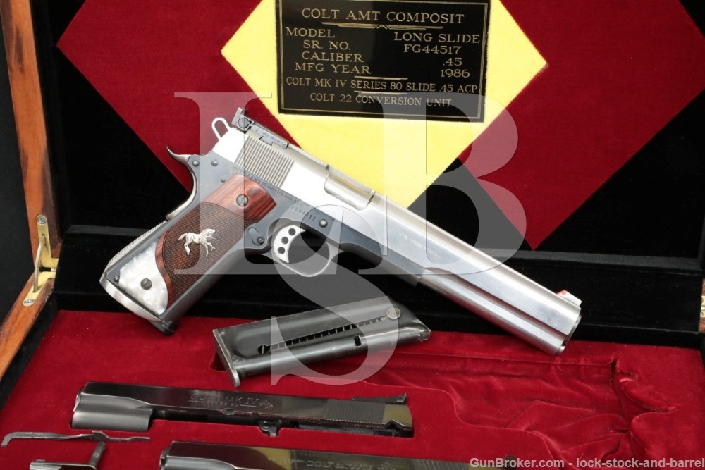 Custom Colt MK IV Series 80 Government 1911 .45 ACP Semi-Auto Pistol, 1985