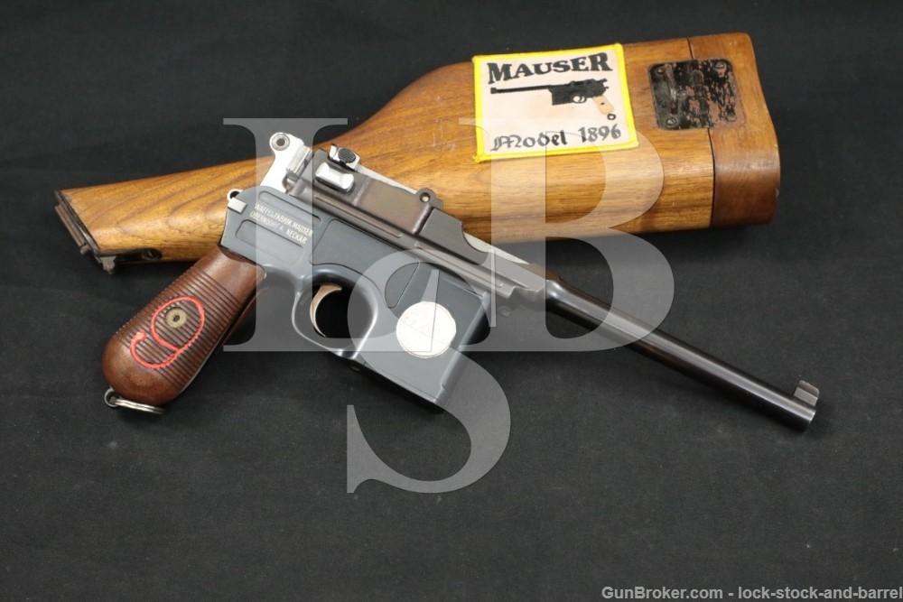 Custom Mauser C96 C-9 M1916 Red 9 Broomhandle 9mm Blue Semi-Auto Pistol C&R