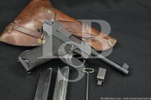 Danish Marked Husqvarna M40S M/40S Lahti 9mm Semi-Auto Pistol, MFD 1945 C&R
