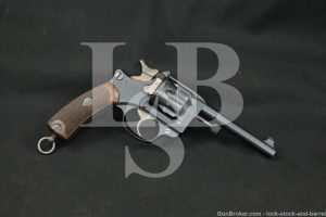 Early French St Etienne Model 1892 8mmx27R SA/DA Revolver, MFD 1982 Antique