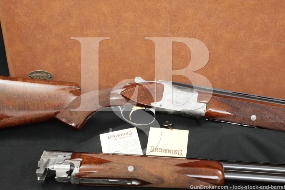 """Engraved Browning Superposed Pointer Grade 20 GA 26.5"""" 28"""" O/U Shotgun 1972"""