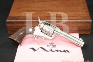 Factory C Engraved Colt Frontier Six-Shooter SAA .44-40 WCF Revolver, 1986