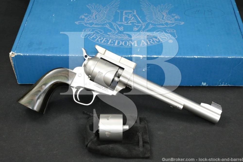"Freedom Arms Model 252 Varmint Class .22 LR WMR 7.5"" Single Action Revolver"