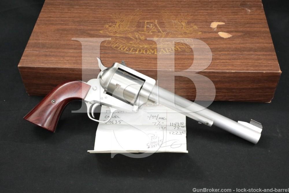 "Freedom Arms Model 83 Premier Grade .454 Casull 7.5"" Single Action Revolver"