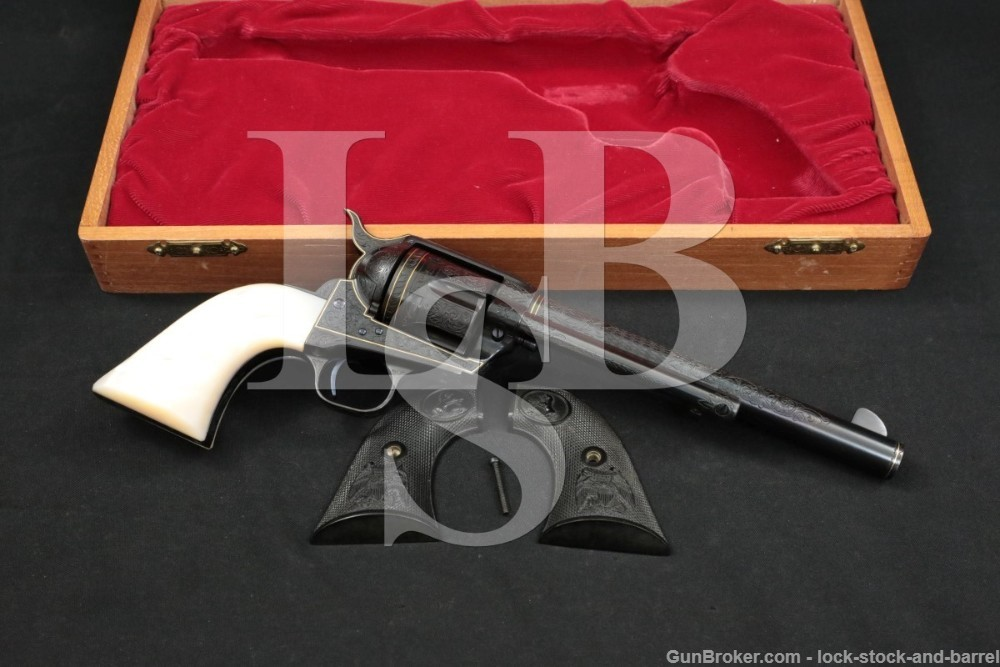 Gary Merlie Sears-Style Engraved Colt Single Action Army Revolver, MFD 1978