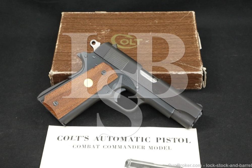German Proof Colt Combat Commander 1911 .45 ACP Semi-Auto Pistol 1973