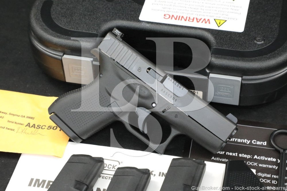 Glock 42 Gen 4 G42 UI4250201 .380 ACP Sub Compact Semi Auto Pistol MFD 2014