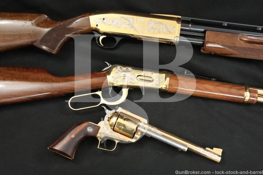 Hilton Estate Engraved Set Ruger Super Blackhawk Winchester 94 Browning BPS
