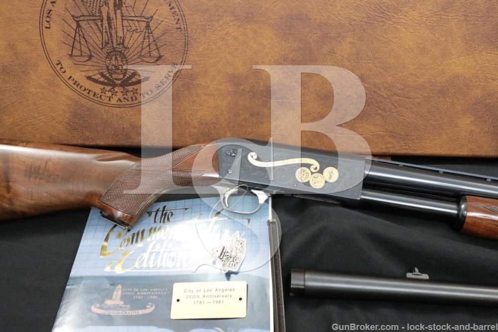 "Ithaca Model 37 LAPD 12 GA 28"" 18 1/2"" Engraved Pump Action Shotgun, 1981"