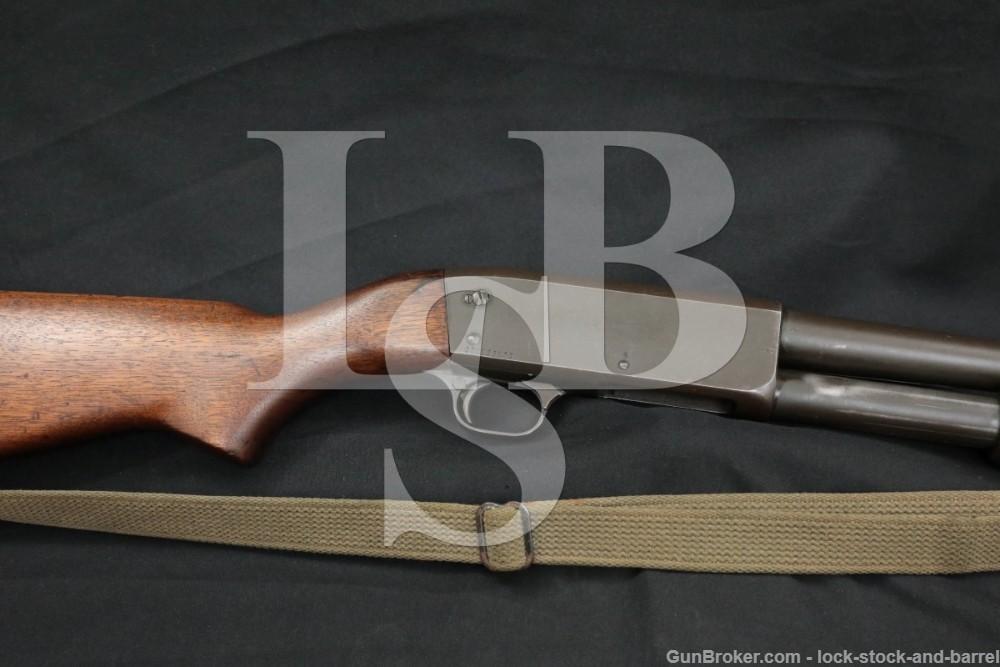 "Ithaca Model 37 M37 Featherlight M&P 20"" Shot 12 GA Pump Shotgun, 1970 C&R"