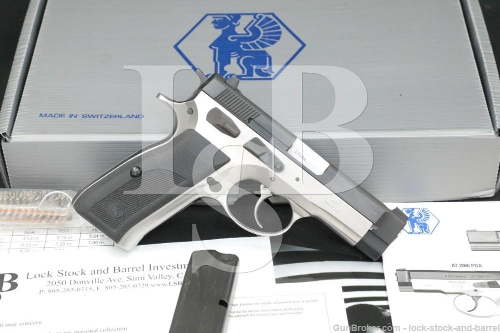 "James Darren's Sphinx AT2000 Police Special 9mm 3.66"" Semi-Automatic Pistol"