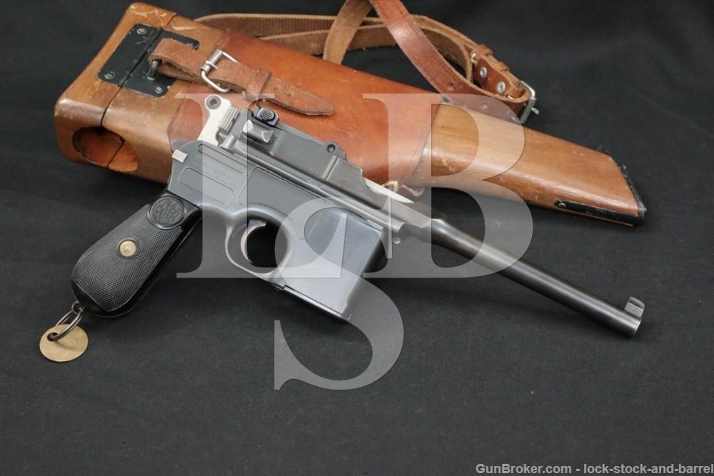 Mauser 1896 C96 Broomhandle 7.63mm .30 Cal Semi-Auto Pistol, MFD 1913 C&R