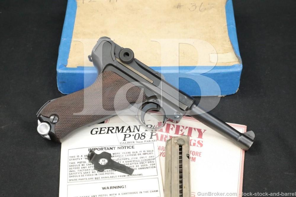 Nazi WWII Mauser P.08 M1934 42 Code Luger 9mm Semi-Auto Pistol MFD 1941 C&R