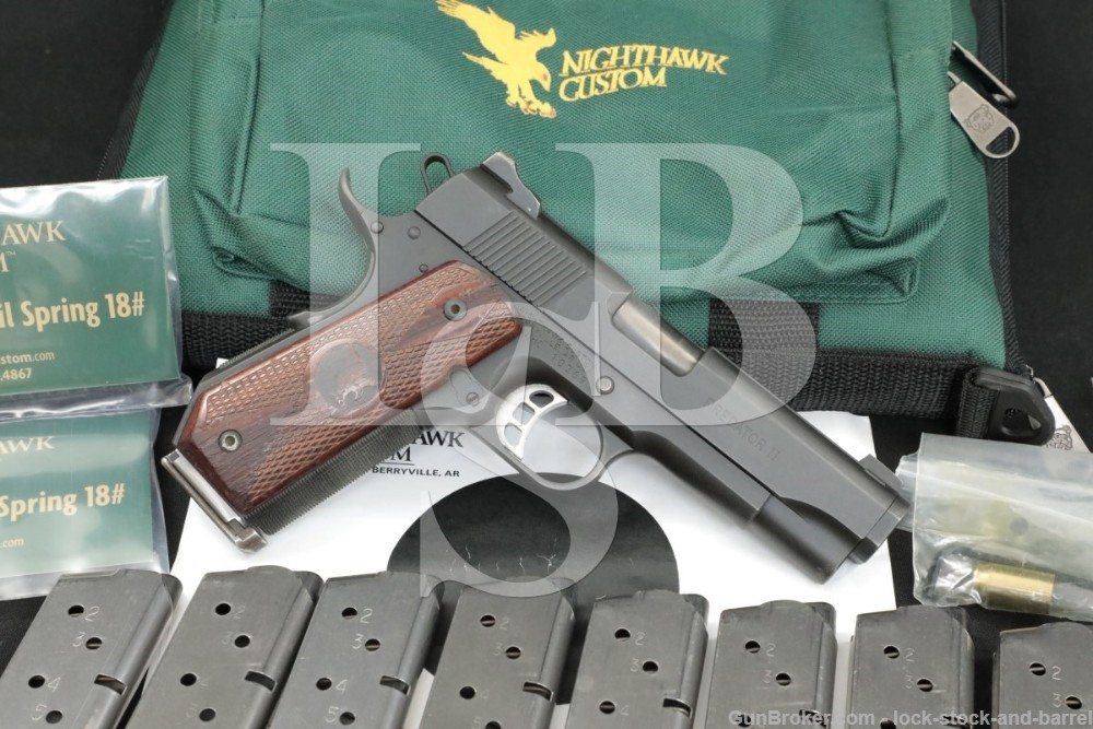 "Nighthawk Custom Model Predator II 2 .45 ACP 4.25"" Semi-Automatic Pistol"