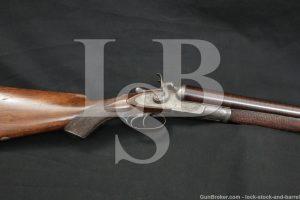 P. Webley & Son Best Quality 10 GA Hammer Double Gun, 1887-1893 Antique