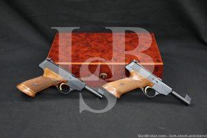 "Pair FN Browning Model Challenger .22 LR 4.5"" Semi-Auto Pistol 1965 C&R"