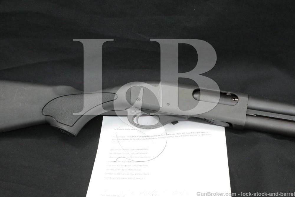 "Paul Walker's Remington 870 Tactical 18.5"" CYL Slide Pump Action Shotgun"