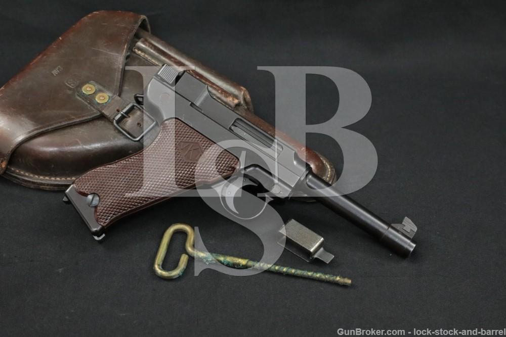 Post-War Commercial Finnish Valmet Lahti L-35 L35 9mm Semi-Auto Pistol, C&R