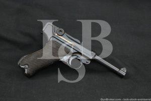 Pre-WWII Mauser S/42 S42 P.08 P08 Luger 9mm Semi-Auto Pistol, MFD 1936 C&R