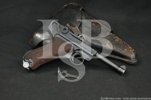 Pre-WWII Mauser S/42 S42 P.08 P08 Luger 9mm Semi-Auto Pistol, MFD 1938 C&R