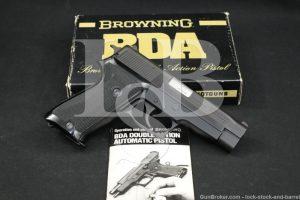 "Rare! Browning Sig Sauer Model BDA .38 Super 4.4"" Semi-Auto Pistol MFD 1977"