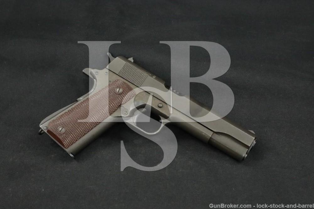 Remington Rand Lend-Lease 1911A1 1911-A1 .45 ACP Semi-Auto Pistol, 1943 C&R