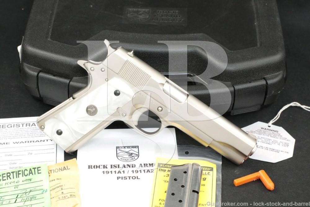 """Rock Island Armory 1911-A1 FS 1911A1 1911 A1 .38 Super 5"""" Semi-Auto Pistol"""