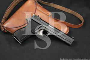 """Sharp! Swiss Military SIG Model P49 P210 9mm 4 3/4"""" Semi-Auto Pistol C&R"""