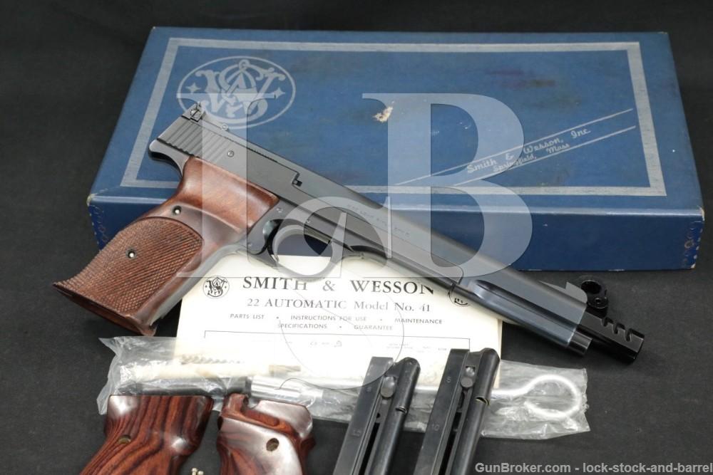 "Smith & Wesson S&W Model 41 .22 LR 7 3/8"" Semi-Automatic Pistol C&R"