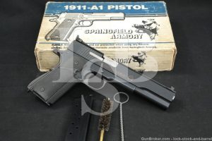 "Springfield Armory Peters Stahl Model Omega 10mm 6"" Semi-Auto Pistol 1987"
